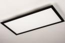 Plafondlamp 74238: modern, kunststof, metaal, zwart #7