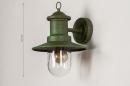 Buitenlamp 74241: landelijk, rustiek, eigentijds klassiek, metaal #1