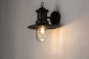 Buitenlamp 74242: landelijk, rustiek, eigentijds klassiek, metaal #2