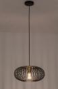 Hanglamp 74244: modern, retro, metaal, zwart #3
