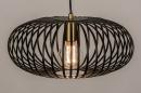 Hanglamp 74244: modern, retro, metaal, zwart #4