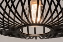 Hanglamp 74244: modern, retro, metaal, zwart #9