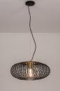 Hanglamp 74245: modern, retro, metaal, zwart #2