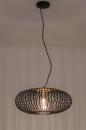 Hanglamp 74245: modern, retro, metaal, zwart #3