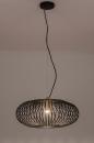 Hanglamp 74245: modern, retro, metaal, zwart #5