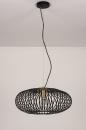 Hanglamp 74245: modern, retro, metaal, zwart #6
