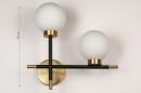 Wandlamp 74256: modern, eigentijds klassiek, art deco, glas #1