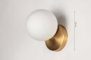 Wandlamp 74258: modern, eigentijds klassiek, art deco, glas #1
