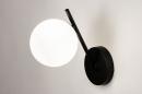 Wandlamp 74260: modern, klassiek, eigentijds klassiek, glas #3