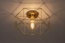 Plafondlamp 74270: modern, eigentijds klassiek, messing, metaal #2