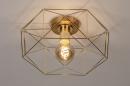 Plafondlamp 74270: modern, eigentijds klassiek, messing, metaal #3