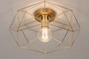 Plafondlamp 74270: modern, eigentijds klassiek, messing, metaal #4