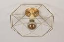 Plafondlamp 74270: modern, eigentijds klassiek, messing, metaal #5