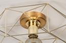 Plafondlamp 74270: modern, eigentijds klassiek, messing, metaal #7