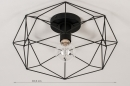 Plafondlamp 74271: modern, metaal, zwart, mat #1