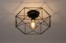 Plafondlamp 74271: modern, metaal, zwart, mat #2