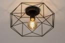 Plafondlamp 74271: modern, metaal, zwart, mat #3