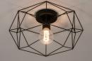 Plafondlamp 74271: modern, metaal, zwart, mat #4