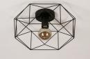 Plafondlamp 74271: modern, metaal, zwart, mat #5