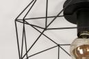 Plafondlamp 74271: modern, metaal, zwart, mat #6