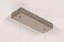 Hanglamp 74275: design, modern, geschuurd aluminium, aluminium #6
