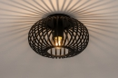 Plafondlamp 74281: modern, retro, metaal, zwart #3