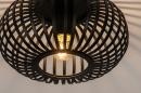 Plafondlamp 74281: modern, retro, metaal, zwart #4