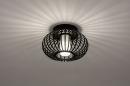 Plafondlamp 74283: modern, retro, glas, wit opaalglas #3