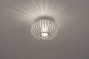 Plafondlamp 74286: modern, retro, glas, wit opaalglas #2