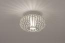 Plafondlamp 74286: modern, retro, glas, wit opaalglas #3