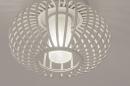 Plafondlamp 74286: modern, retro, glas, wit opaalglas #4
