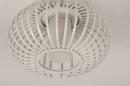 Plafondlamp 74286: modern, retro, glas, wit opaalglas #5