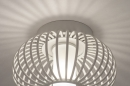 Plafondlamp 74286: modern, retro, glas, wit opaalglas #6