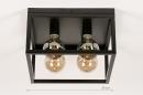 Plafondlamp 74288: industrie, look, landelijk, rustiek #1