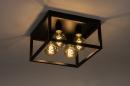 Plafondlamp 74288: industrie, look, landelijk, rustiek #3