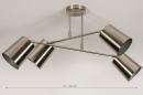Plafondlamp 74302: modern, metaal, nikkel #1