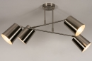 Plafondlamp 74302: modern, metaal, nikkel #3