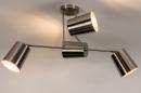 Plafondlamp 74302: modern, metaal, nikkel #4
