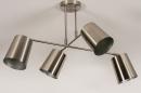 Plafondlamp 74302: modern, metaal, nikkel #6