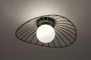 Plafondlamp 74332: modern, retro, glas, wit opaalglas #2