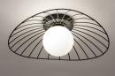 Plafondlamp 74332: modern, retro, glas, wit opaalglas #3