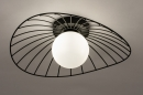 Plafondlamp 74332: modern, retro, glas, wit opaalglas #4