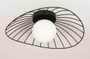 Plafondlamp 74332: modern, retro, glas, wit opaalglas #5