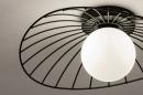Plafondlamp 74332: modern, retro, glas, wit opaalglas #6
