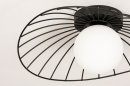 Plafondlamp 74332: modern, retro, glas, wit opaalglas #7