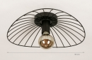 Plafondlamp 74333: modern, retro, metaal, zwart #1