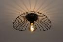 Plafondlamp 74333: modern, retro, metaal, zwart #2