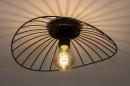 Plafondlamp 74333: modern, retro, metaal, zwart #3
