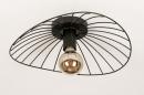 Plafondlamp 74333: modern, retro, metaal, zwart #4