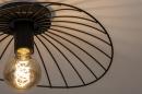 Plafondlamp 74333: modern, retro, metaal, zwart #5